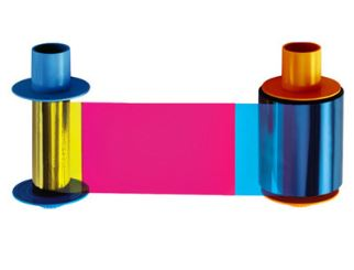 NEW Genuine Fargo 45000 YMCKO Color Ribbon 250 Prints